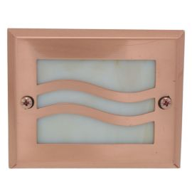 Lake Powell Recessed LED Riser Light by Highpoint Deck Lighting - Copper