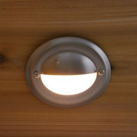 Estes Recessed Step Light by Highpoint Deck Lighting - Stainless - installed