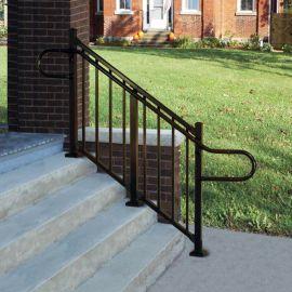 180 Degree Elbow Handrail Return by Westbury Aluminum Railing