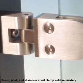 Stainless Steel Universal Angle Adapter by InvisiRail (shown with clamp)