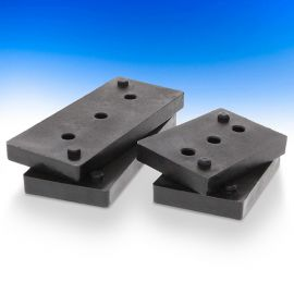 Lite 10 Spacers by InvisiRail - Black - 3/8 in