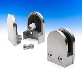 Stainless Steel Glass Clamp by InvisiRail