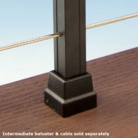 Cable Railing Square Baluster Mounts by KeyLink - Level