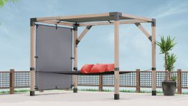 The LINX Pergola Kit for 4x4 Posts now comes with a free LINX SunShade to cool down on those warm summer days!
