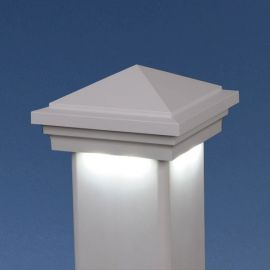 Haven Downward Low Voltage Post Cap Light by LMT Mercer - White - Cool White