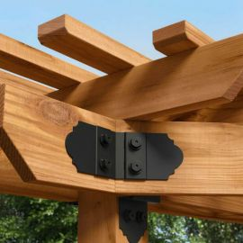 Laredo Sunset Truss Accent by OZCO Ornamental Wood Ties - Typical Installation