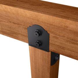6x6 Column Cap installed with cedar lumber