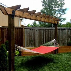 Laredo Sunset Arbor Hammock by OZCO Ornamental Wood Ties