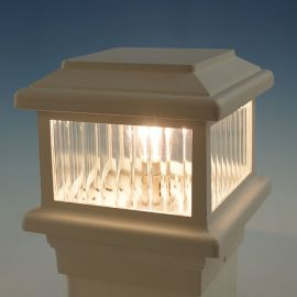 Magena Star Titan Post Cap Light by Westbury-12V (low voltage)-4-1/16 in-White Fine Texture