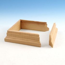 "Wood Post Skirt Kits by DecKorators - 3-5/8"" Cedar (2 pieces)"