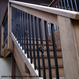 Mega Series Square Basket Baluster by Fortress Iron - Gloss Black