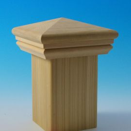 Hatteras Pyramid Post Cap by DecKorators-Cedar