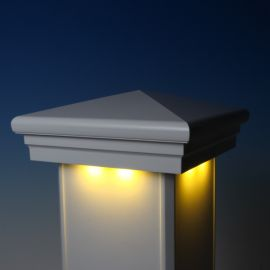 Neptune Downward Low Voltage Post Cap Light by LMT Mercer - White - Warm White