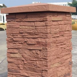 SlateStone Column Cap by NextStone - Red