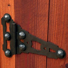 Hinge Kit by OZCO Ornamental Wood Ties - T - Installation Detail