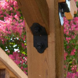 Installed on a pergola