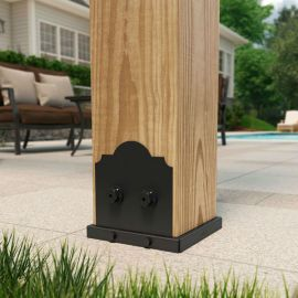 Laredo Sunset OWT Lite Post Base Kit by OZCO Ornamental Wood Ties - Typical Installation