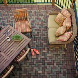 AZEK Pavers can be laid out in several different patterns and designs for a brand new backyard look.