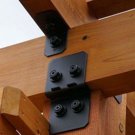 Ironwood Post to Beam Bracket Kit by OZCO - Typical Installation