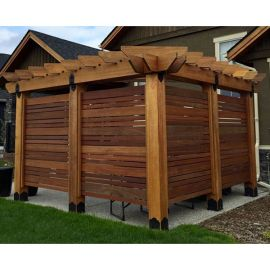 Laredo Sunset Privacy Pergola for 8x8 Posts Project Kit by OZCO Ornamental Wood Ties
