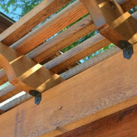 Laredo Sunset Rafter Clips by OZCO Ornamental Wood Ties - 2 inch Installed