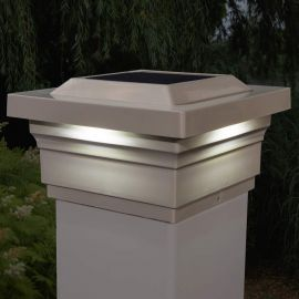 Majestic Solar Post Cap Light - Tan
