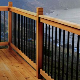 Somerset Level Deck Railing Kit by Vista - installed