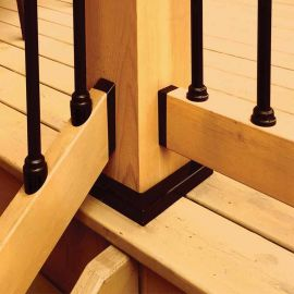 The Titan Snap 'n Lock™ Round Balusters deliver a clean look for both level and stair rails.