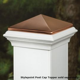 Stylepoint Post Cap for Deckorators CXT - Shown with copper Post Topper (sold separately)