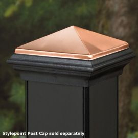 Deckorators Stylepoint Post Cap Topper - Shown with Stylepoint Post Cap (sold separately)