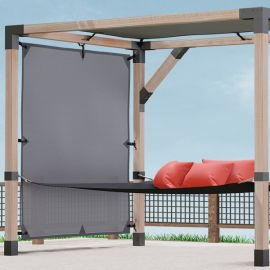 The LINX Sunshade blocks both the wind and sun rays from reaching you while relaxing.