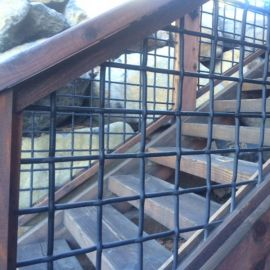 Tahoe Woven Mesh Stair/Rail Panels by Wild Hog Railing