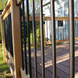 Textured Round Aluminum Balusters By DekPro
