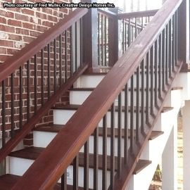 Square Aluminum Deck Balusters by DekPro - Weathered Brown