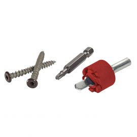 TrapEase Composite Fascia Screws by FastenMaster with Tool and Bit-FIre Pit