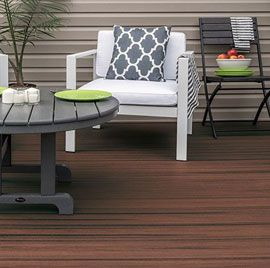 Trex Enhance Naturals Deck Boards in Sunset Cove.