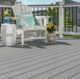 Get creative with your deck design using Trex Select 2 in Pebble Grey.