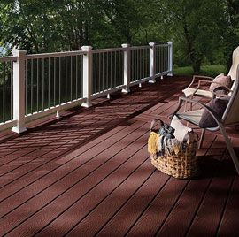 A simple and naturalistic composite material with an attractive wood-grain appearance in a variety of deep colors, Trex Select Deck Boards are the simple choice.