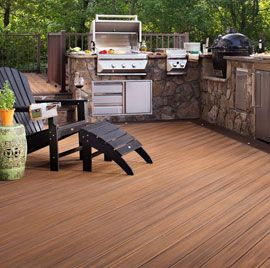With a beautiful wood-grain and knot appearance, Trex Transcend 2 Inch Deck Boards provide the true likeness of exotic wood blended with the lasting endurance of composite material.