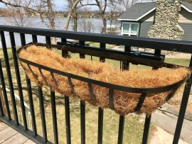 Make hanging one of your baskets or planters to your deck railing easy with Basket Hooks from Hold It Mate (mounting bar sold separately)