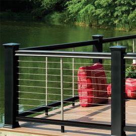 TimberTech Universal Bottom Rail with 316 Stainless CableRail by Feeney (TimberTech Top Rail and Feeney CableRail sold separately)