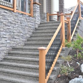 Tuscany Stair Deck Railing Kit by Vista - installed