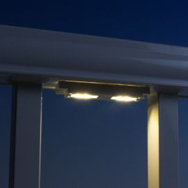 Low Voltage LED Under Rail Light by LMT Mercer - installed - warm white temperature