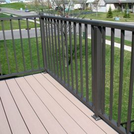 Tuscany Level Rail Kits by Westbury Aluminum Railing with Crossover Post Installation (Square Balusters)