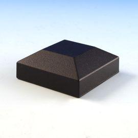VertiCable Flat Top Post Cap by Westbury Aluminum Railing - Black Fine Texture - 2-1/16 inch