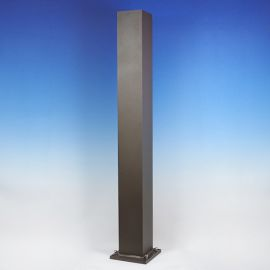 Post by Westbury Aluminum Railing - 4 in x 4 in - Bronze Fine Texture