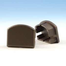 Top Rail End Plug for Westbury Aluminum Railing - Bronze Fine Texture
