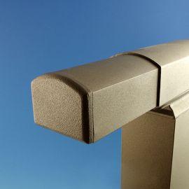 Top Rail End Plug for Westbury Aluminum Railing - Bronze Fine Texture