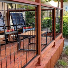 Beautifully install Wild Hog Railing panels with the tough and secure Hog Tracks Kit from Wild Hog Railing Products.