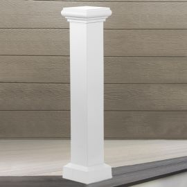 AFCO Aluminum Newel Post Cover Kit - Textured White